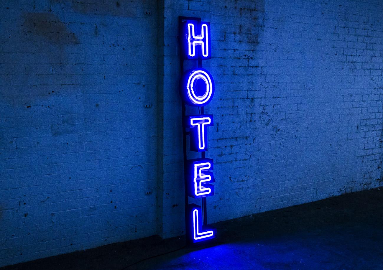 Hotel Neon Kemp London Bespoke Neon Signs Prop Hire