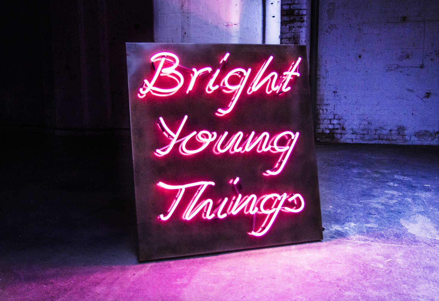 Bright Young Things Kemp London Bespoke Neon Signs Prop Hire Large Format Printing