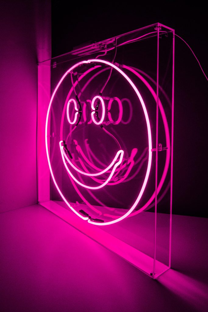 Smiley Face Kemp London Bespoke Neon Signs Prop Hire Large Format Printing