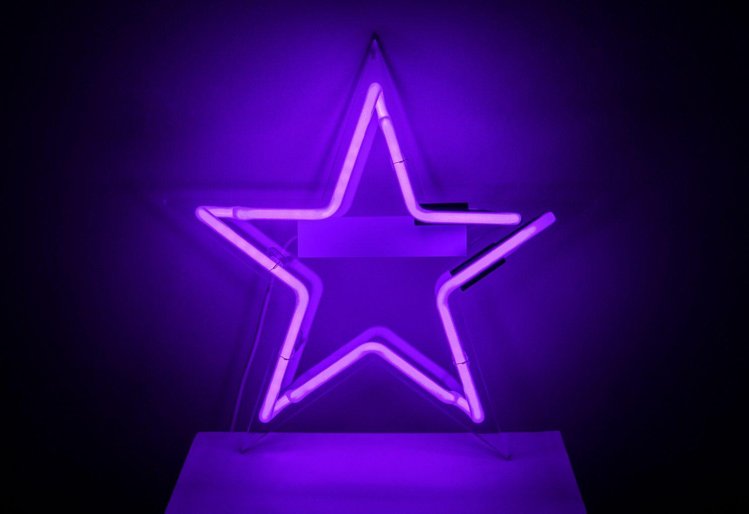 Neon Star Purple Kemp London Bespoke Neon Signs