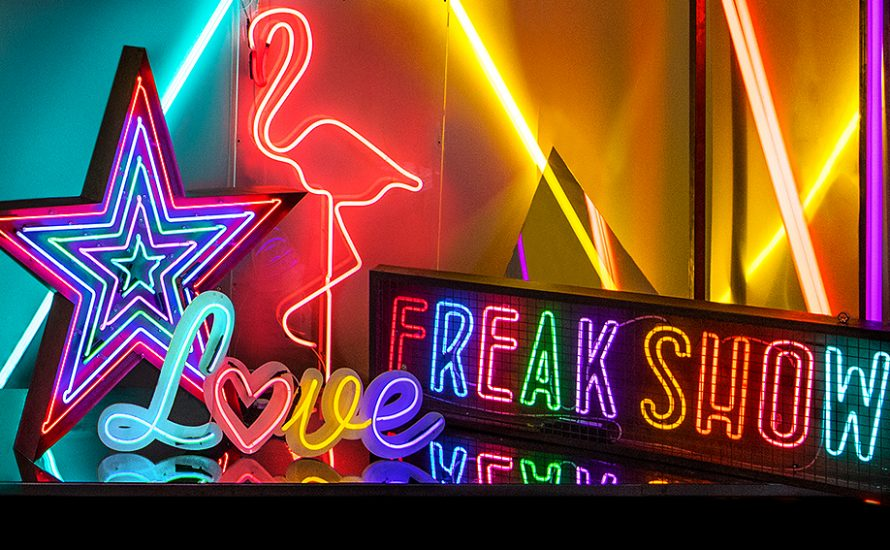 Prop Hire - Kemp London - Bespoke neon signs, prop hire